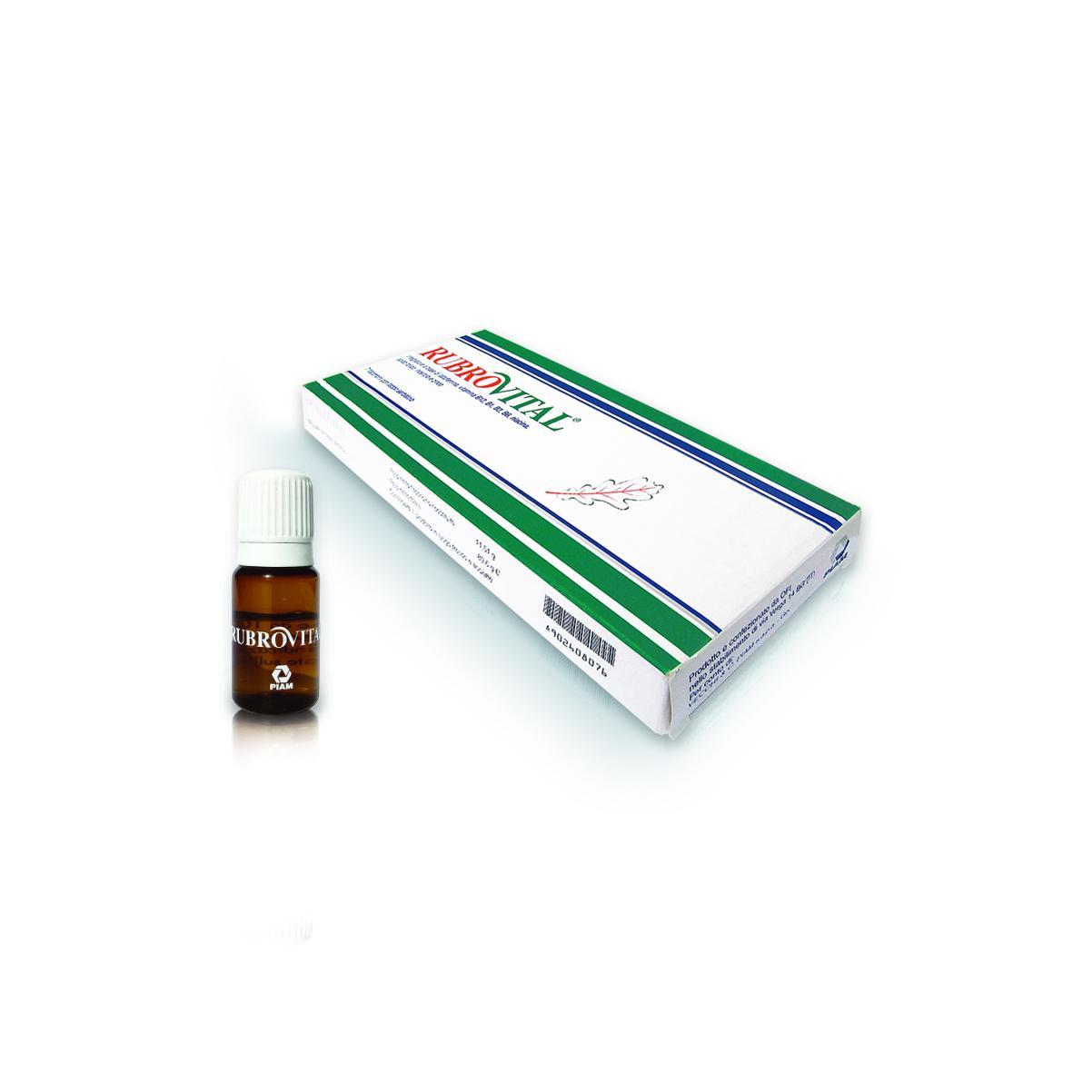 RUBROVITAL® 7 flaconcini con tappo serbatoio