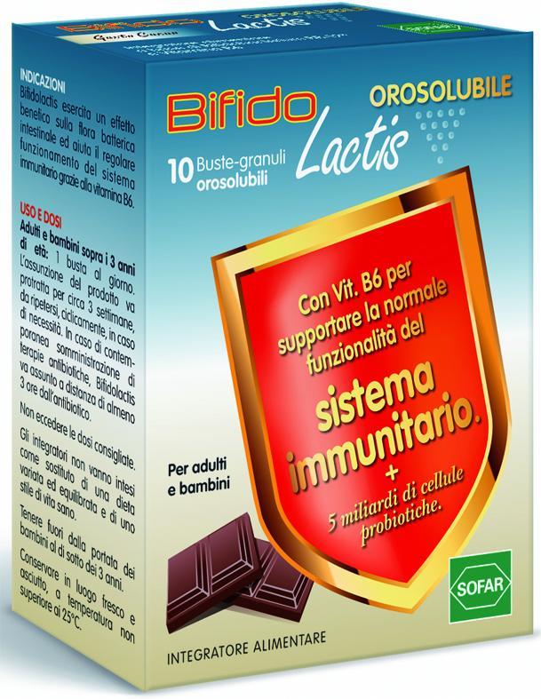 BIFIDOLACTIS OROSOLUBILE 10 buste granuli orosolubili