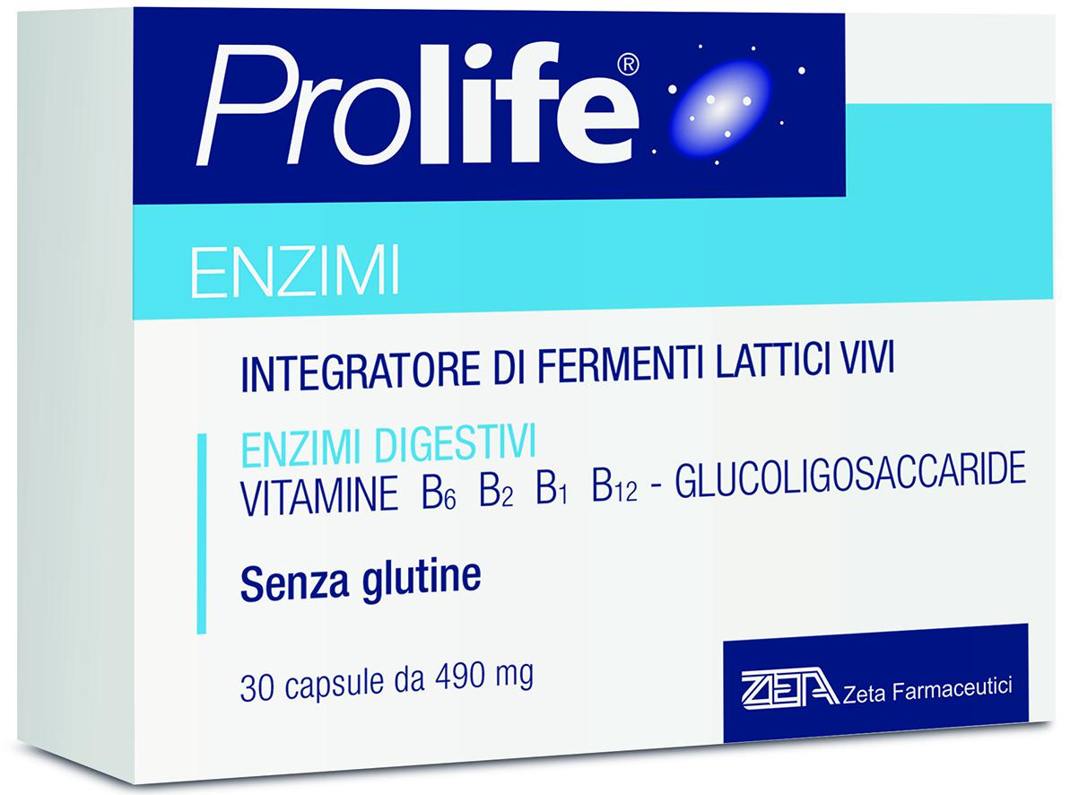 ProLife® Enzimi – 30 capsule da 490 mg in blister