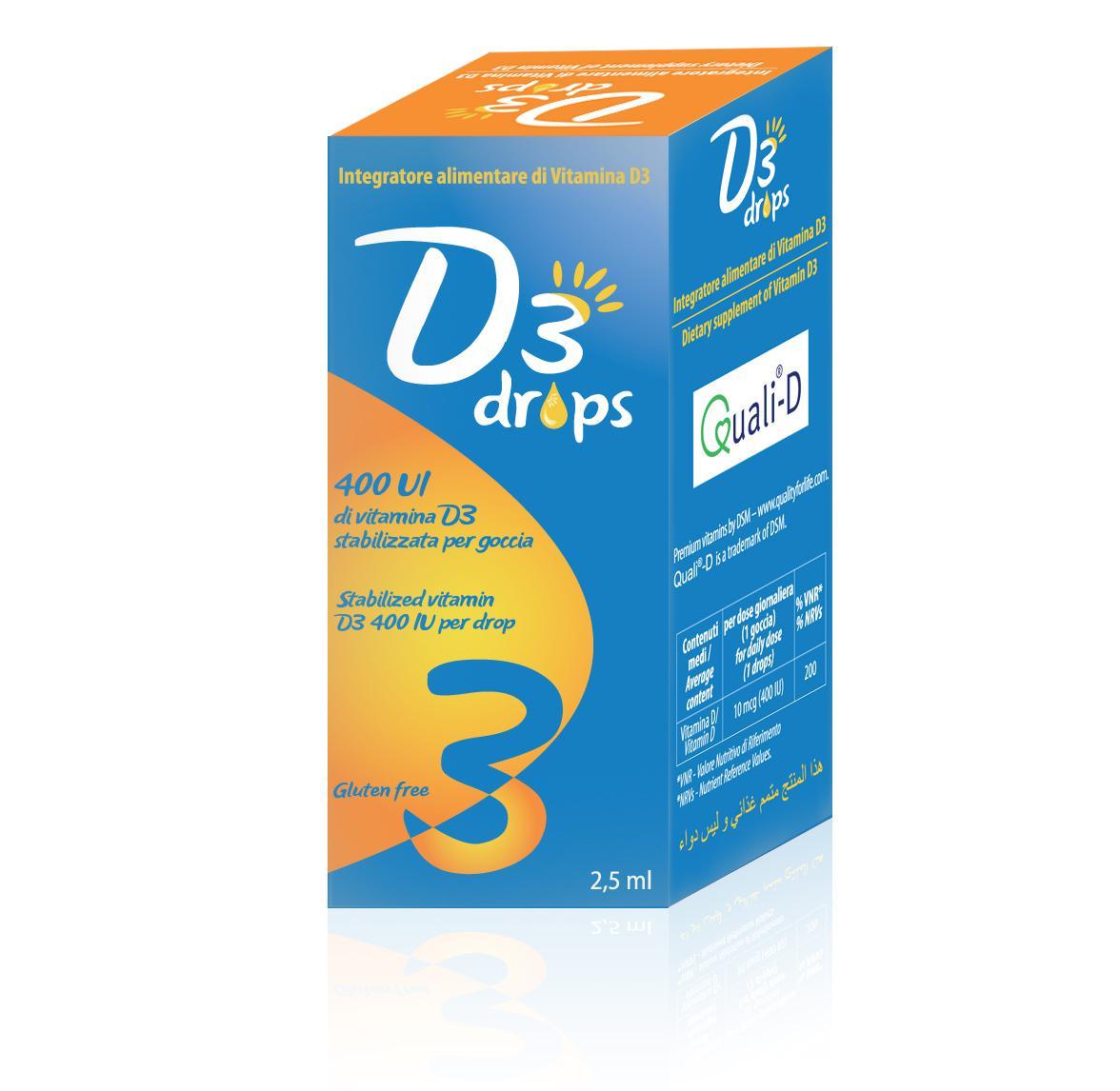 D3 drops flaconcino da 2,5 ml