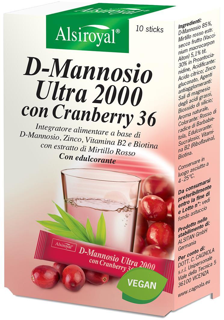 D-MANNOSIO 2000 ULTRA CRANBERRY 36